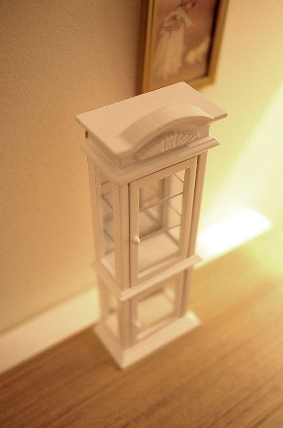 1:12 Miniature wall-mounted telephone dollhouse diy doll house decor LE