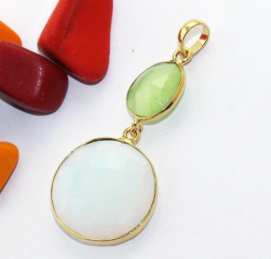 Zj7194 Sale Green Monalisa Opelite 24k Gold Plated Handmade