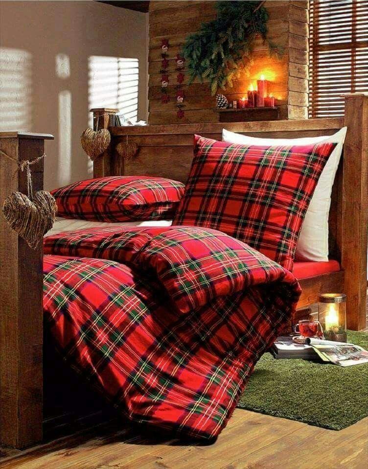 Pin By Vicki Chapman On Christmas Time Bedroom Red Christmas Bedding Red Bedroom Design