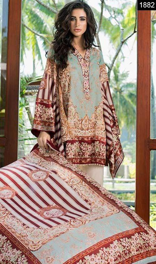 Summer lawn dress designs 2018