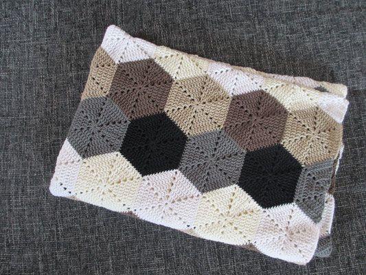 Hexagon Decke Hexagon Blanket Häkeln Macht Glücklich Crochet