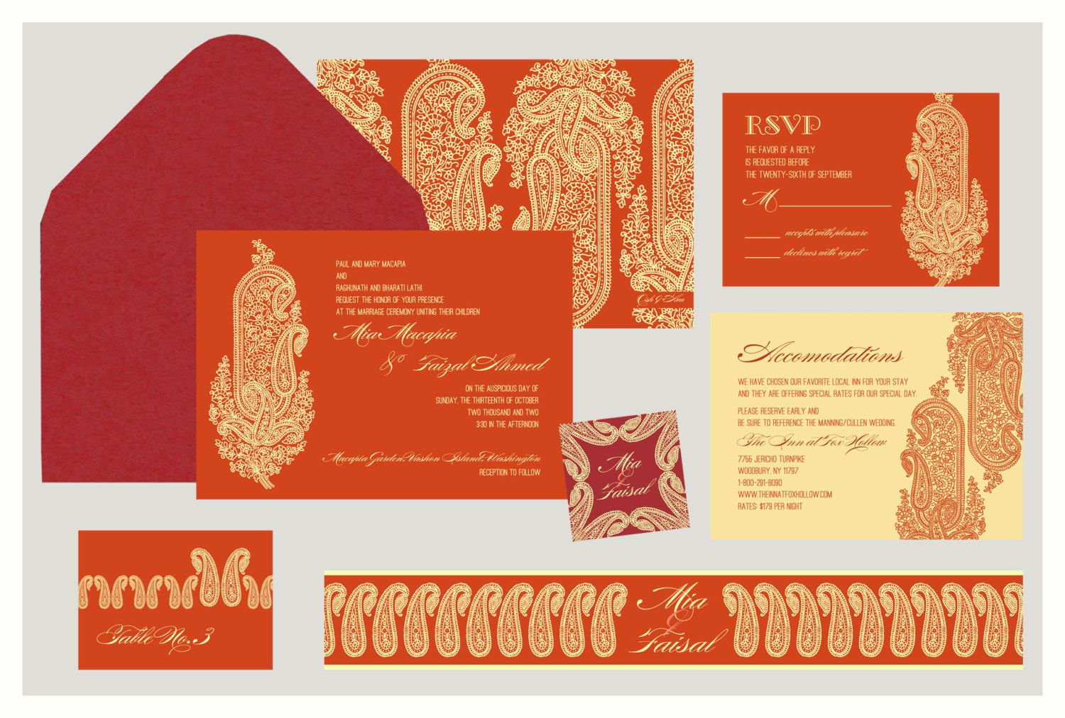 Awesome Wedding Invitation Motif Component - Invitations and ...