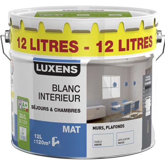 Peinture Murs Et Plafonds Luxens Mat 12l Peinture Mur Et Plafond Plafond Boiserie