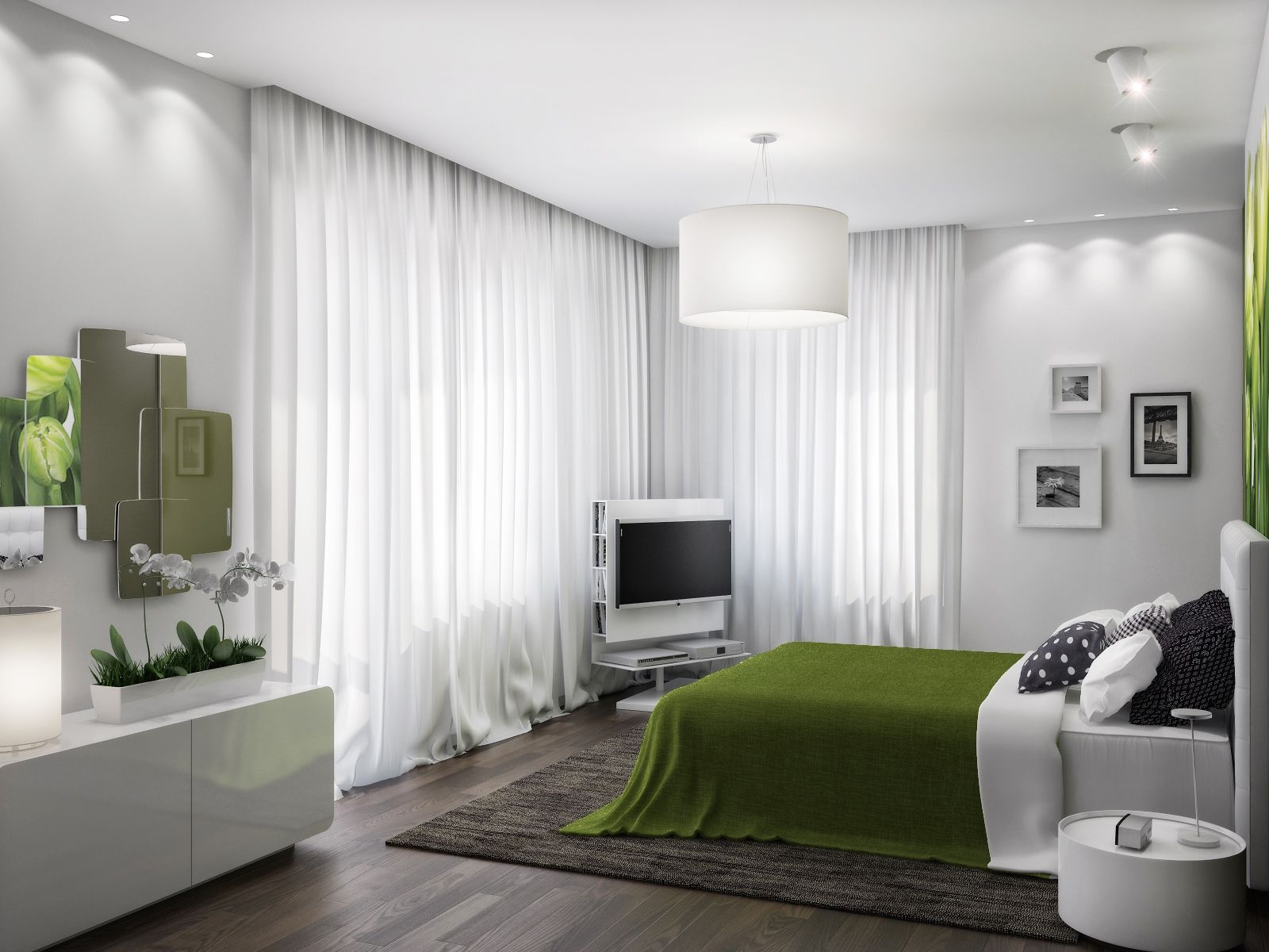 White and green bedroom - White And Green Bedroom Green White Bedroom Scheme