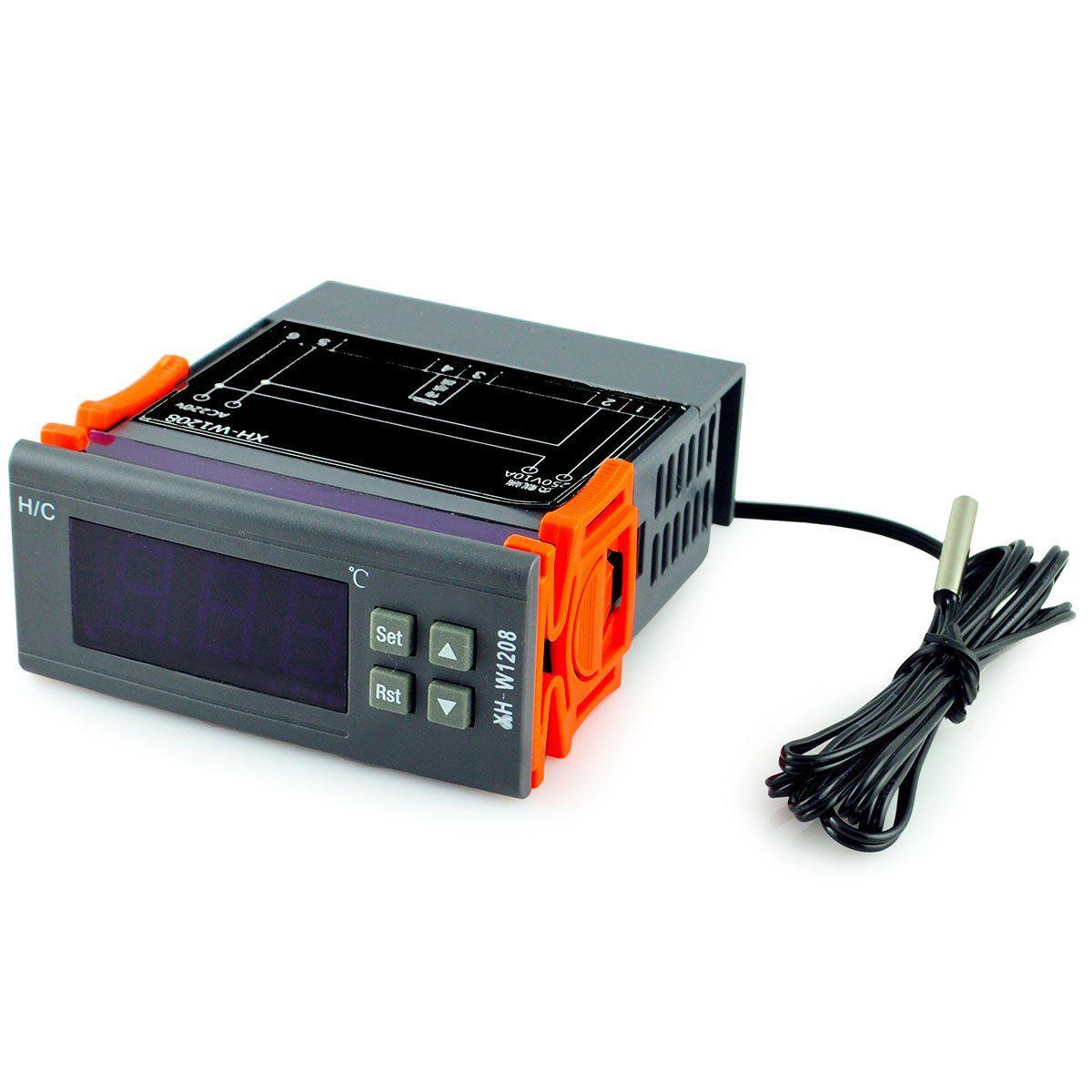 Sikio Xh W1208 1 8 Quot Lcd Digital Temperature Controller Grey 110 240v Temperature Control Thermostat Sensor