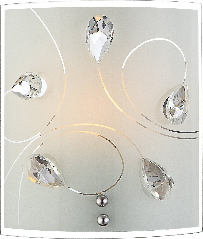 Globo w e watt alivia wall lamp nickelmatt garden