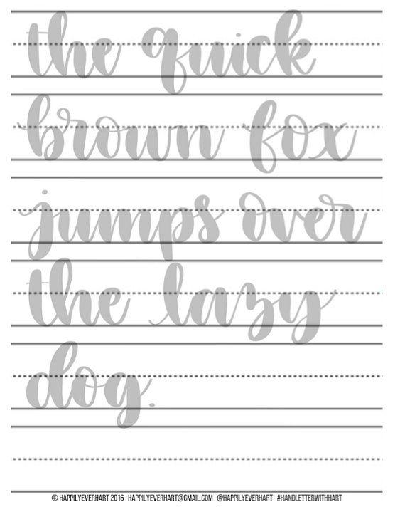 Large Hand Lettering Practice Sheets - Brush Pen - Brush Marker ...