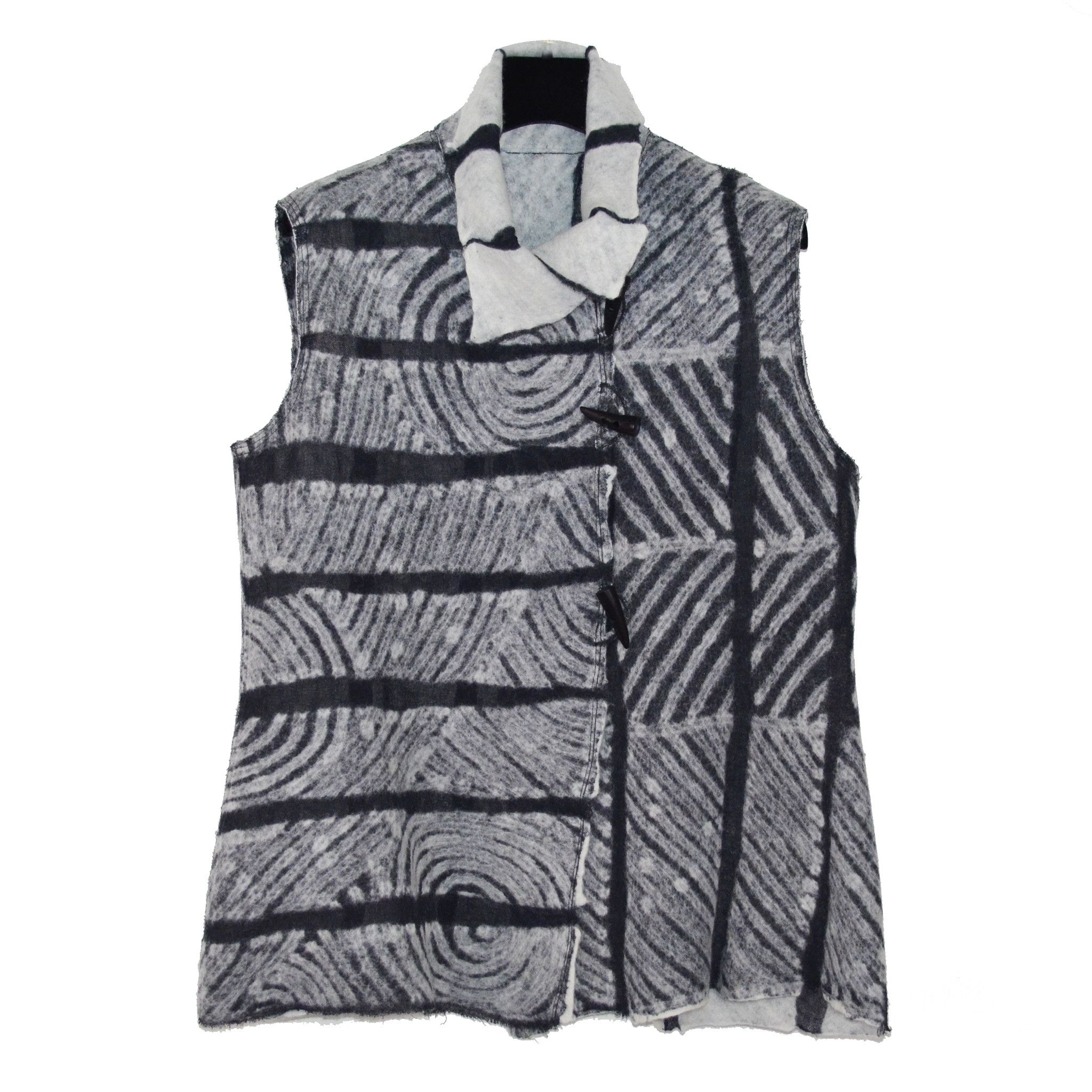 Maggy Pavlou Vest, Charcoal and White, S/M