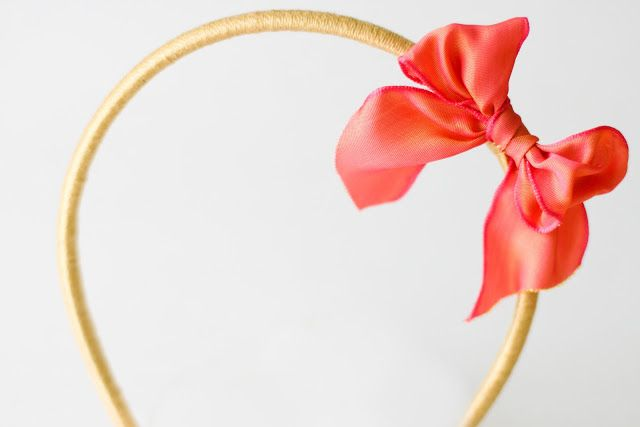 flax & twine | craft + diy: Day 21: A Bow Headband - a diy hair accessory