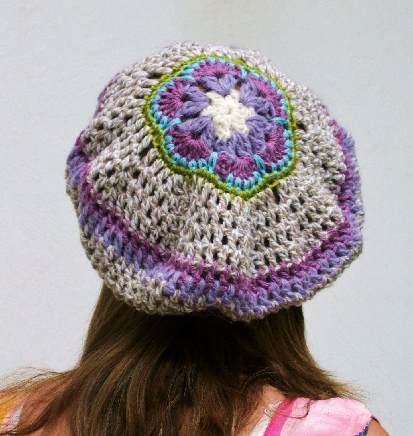 Boina con flor africana - Crochet - Tejidos de Punto - 9592  31a09530abf