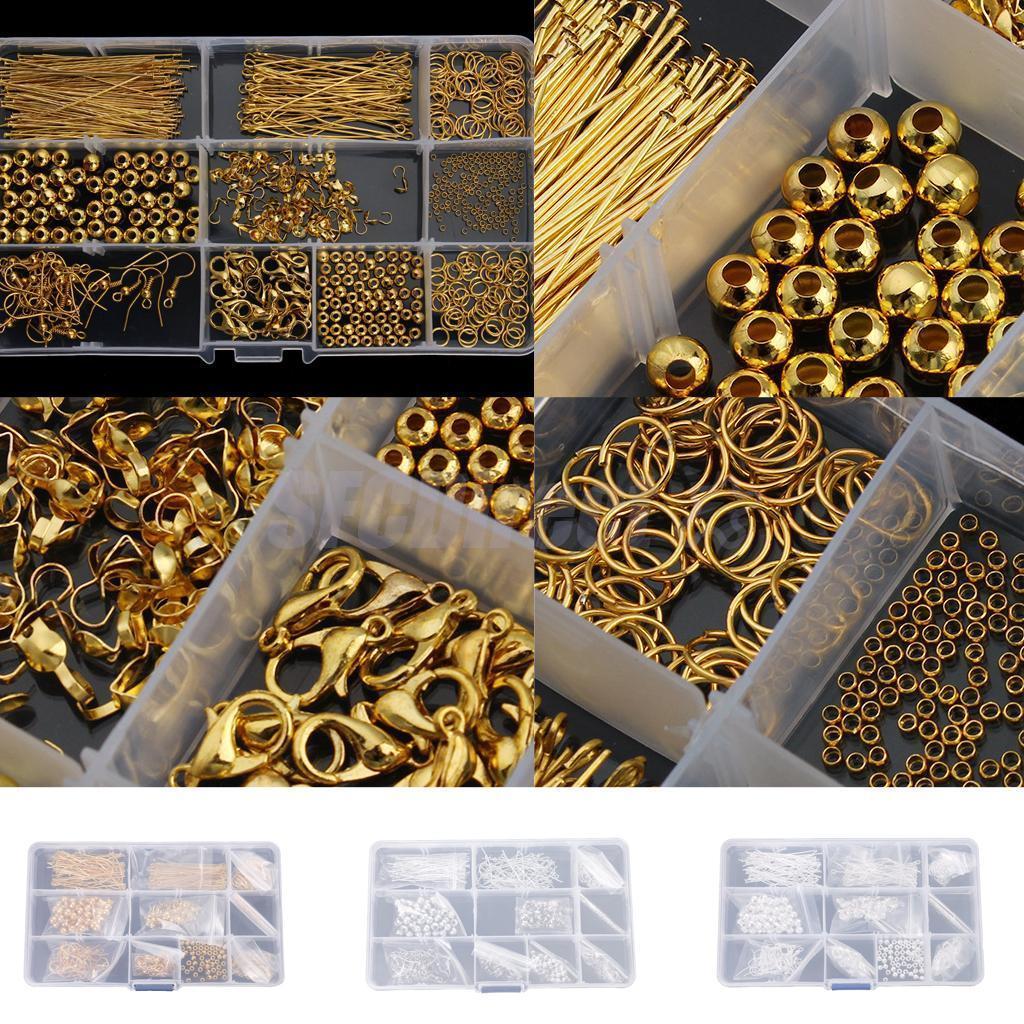 Jewelry Making Starter Kit Findings for DIY Earring Bracelet Necklace Crafts