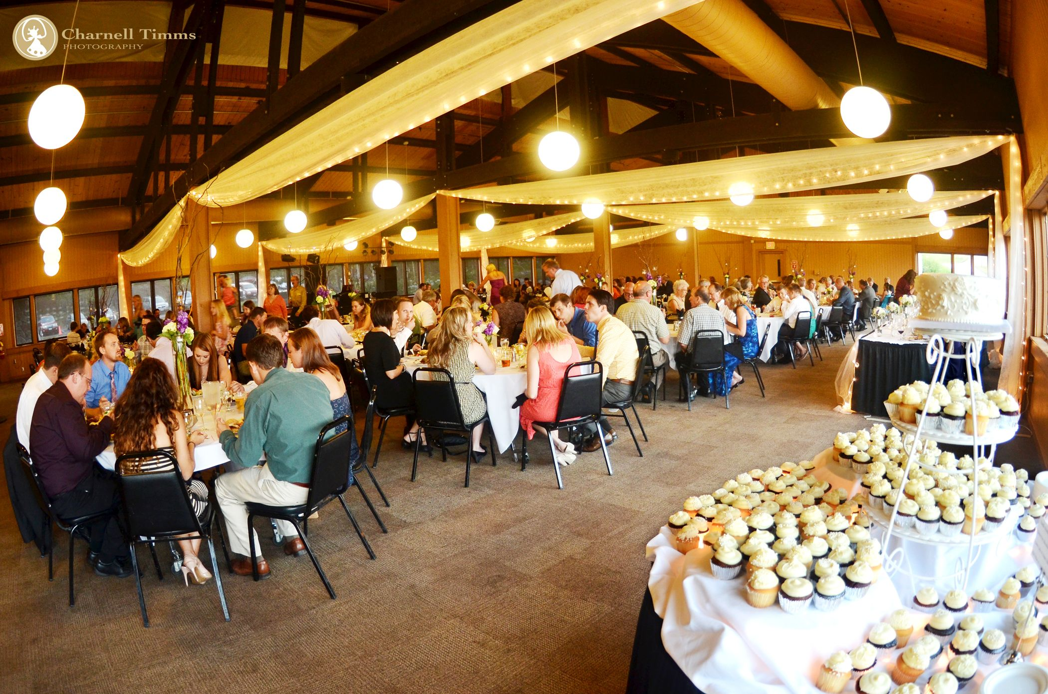 spacious wedding venue seating over 300 guests at spirit mountain duluth charnell timms photography