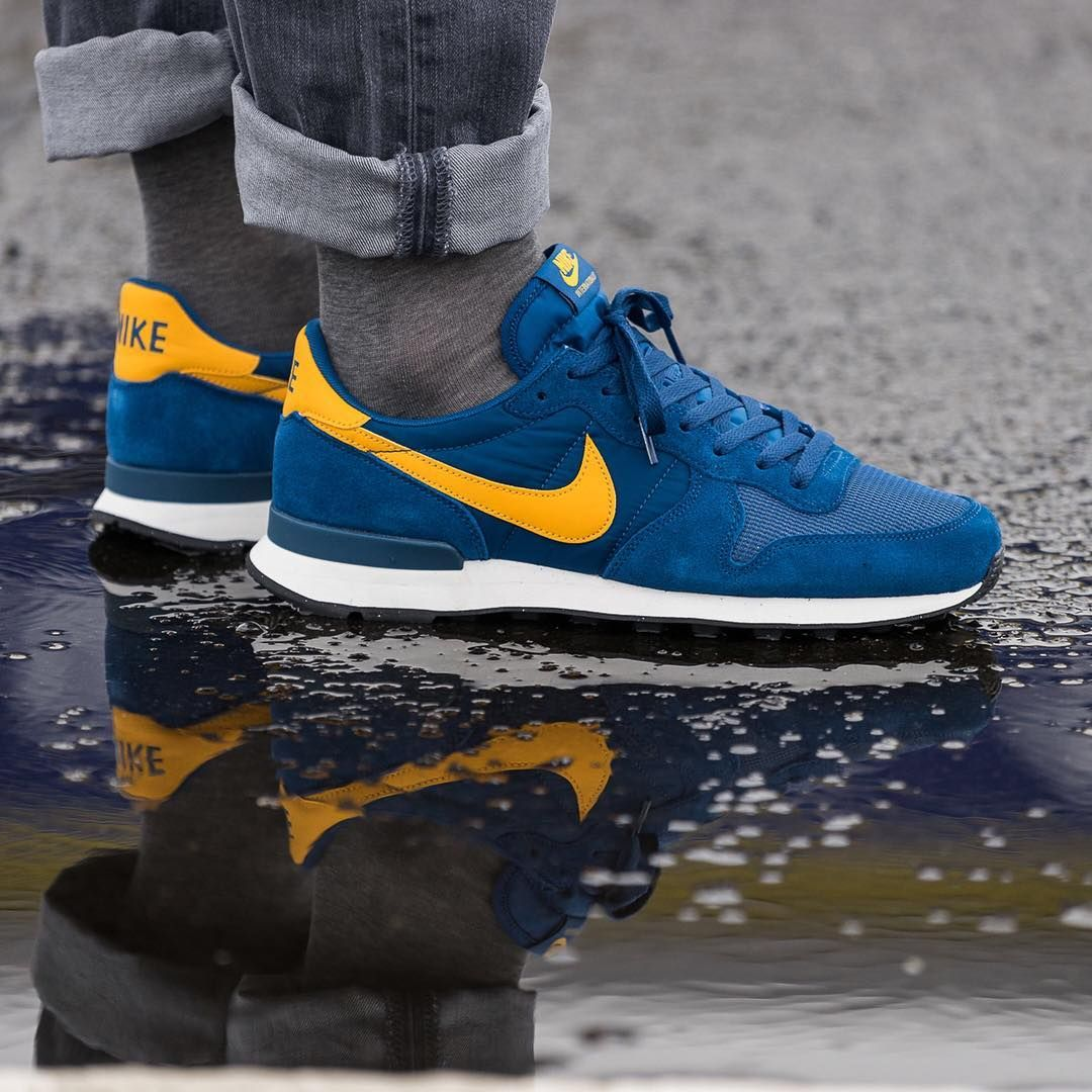 best loved f05dd 58aac Nike Internationalist  Blue Yellow