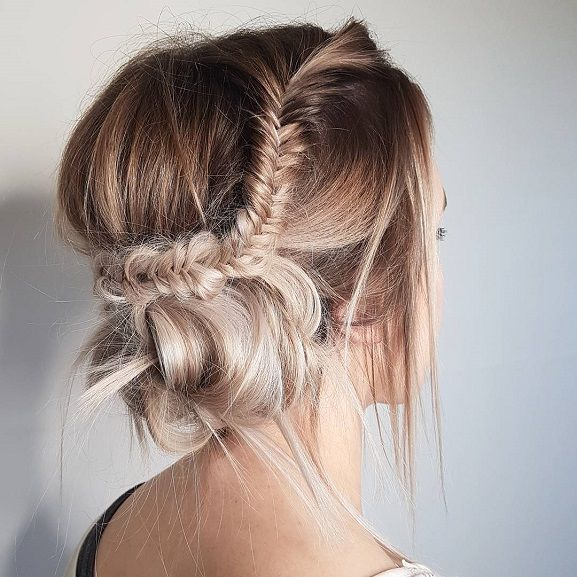 Prom Hairstyles Updos Fishtail Braided Updo Hairstyle Inspirationmessy Updo Hairstyles