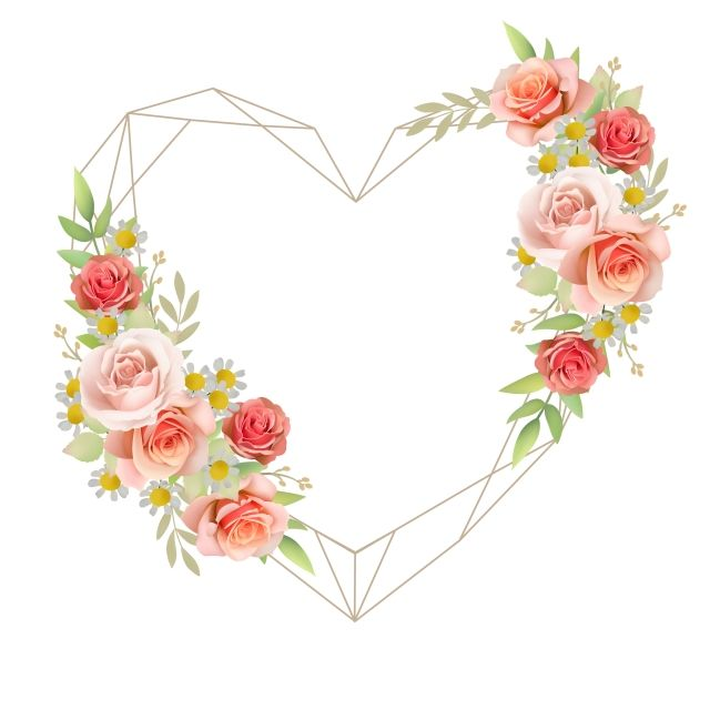 Beautiful Love Frame Background With Floral Garden Roses Vector And Png Poster Floral Aquarela Floral Quadro De Flores