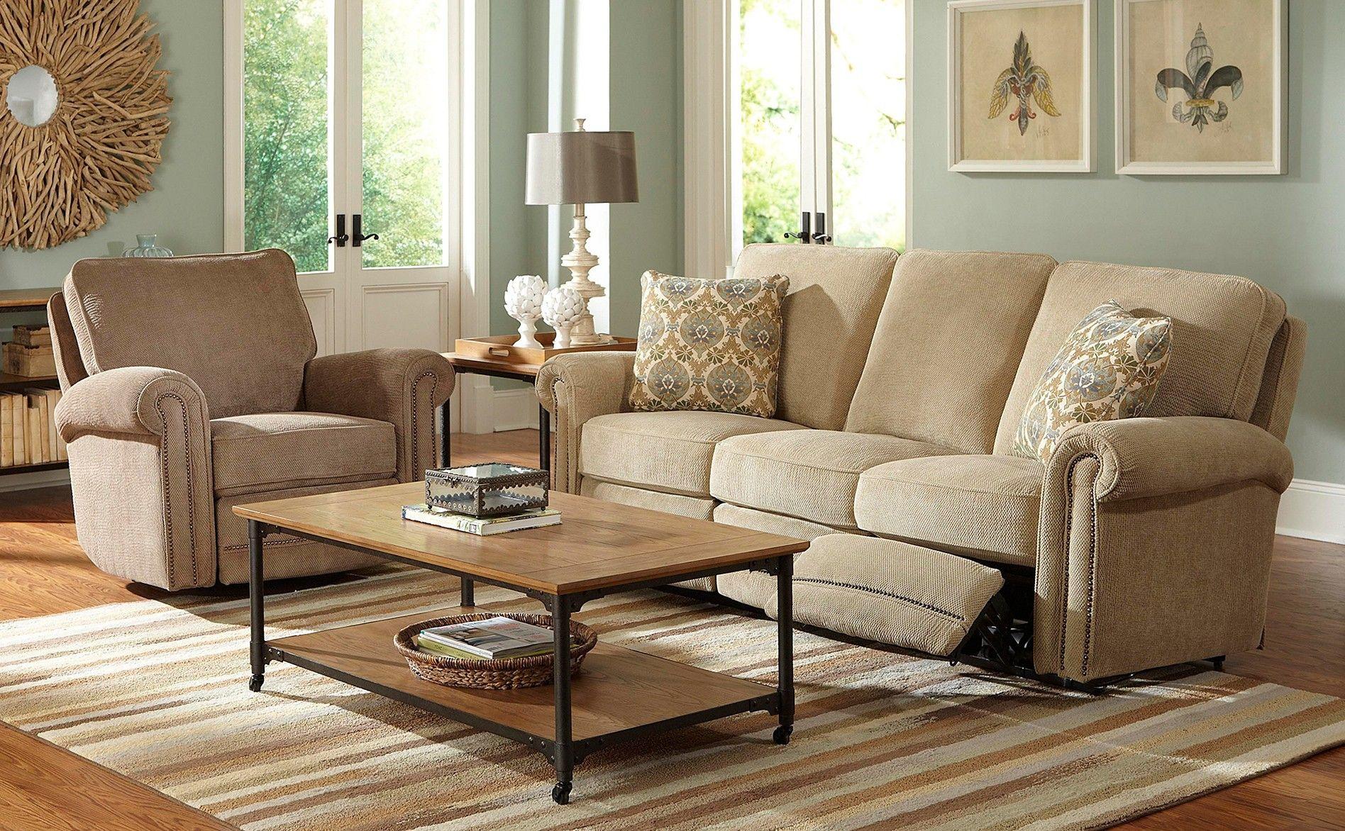 Broyhill Jasmine Double Reclining Sofa Beautiful Rooms