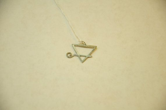 Alchemical Symbol of Earth Pendant via Etsy