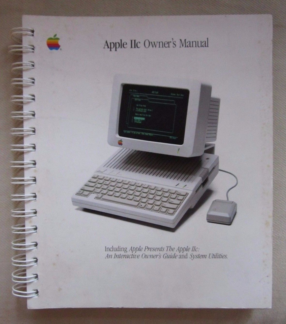 apple iic owner s user manual guide computer spiralbound book system rh pinterest com Apple Help iPad User Manual Apple iPod
