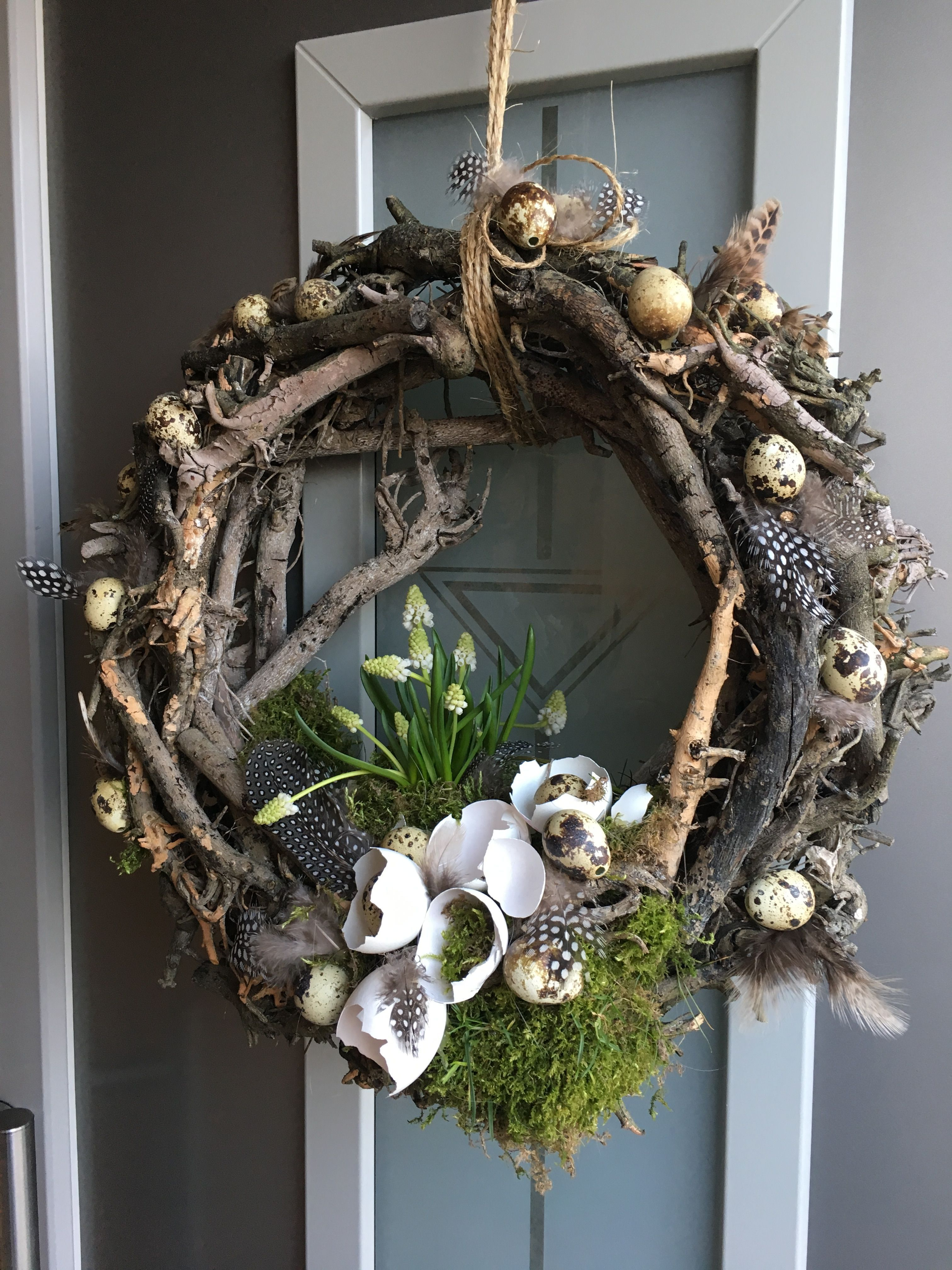 Photo of Easter wreath made by me – # made # Easter wreath