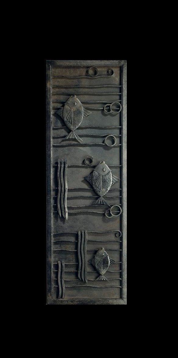 Edgar Brandt Figural Panel Stamped E Brandt Wrought Iron 41 3 8 X 13 3 4 In 105 1 X 34 9 Cm Ca 1925 French Art Deco Iron Work Art Deco