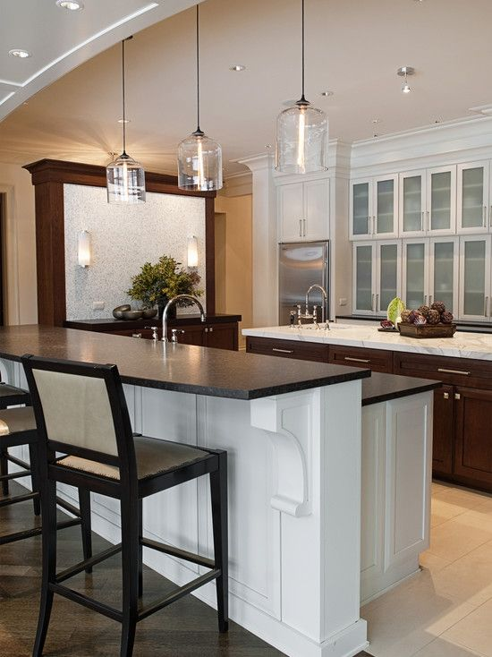 Two level island design pictures remodel decor and for 2 level kitchen island ideas