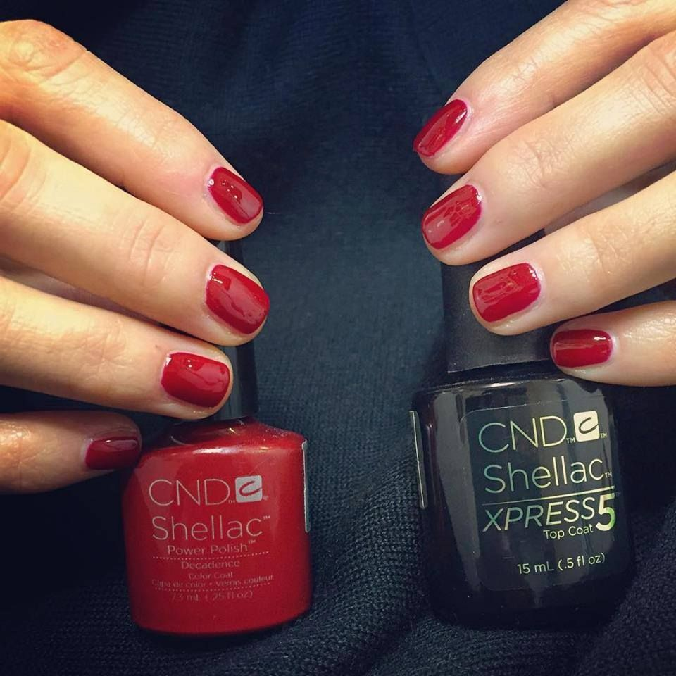Blood red nails - CND shellac Decadence | nails | Pinterest | Red ...