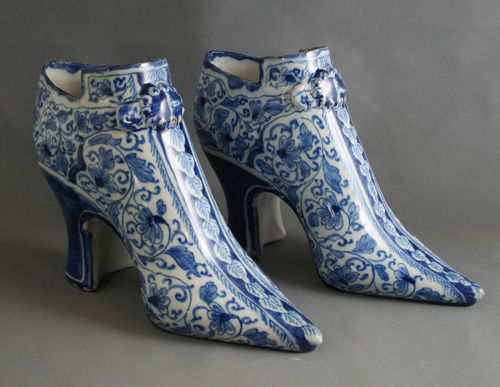 Pair London delft shoes, circa 1720 More stock available at www.martynedgell.com or follow us at www.facebook.com/martynedgellantiques