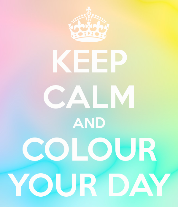 keep calm and colour