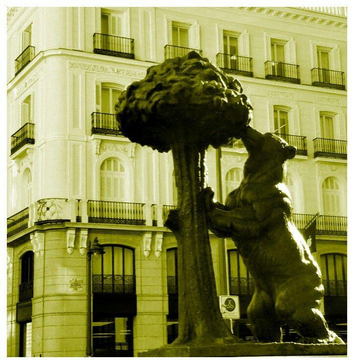 Madrid, Plaza del Sol, Spagna .