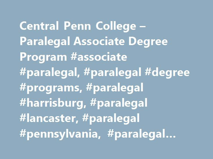 Central penn college paralegal associate degree program