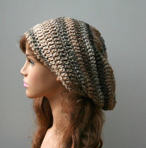 Caramel slouchy hat, Slouchy beanie, slouch hat, woman beanie, soft ...