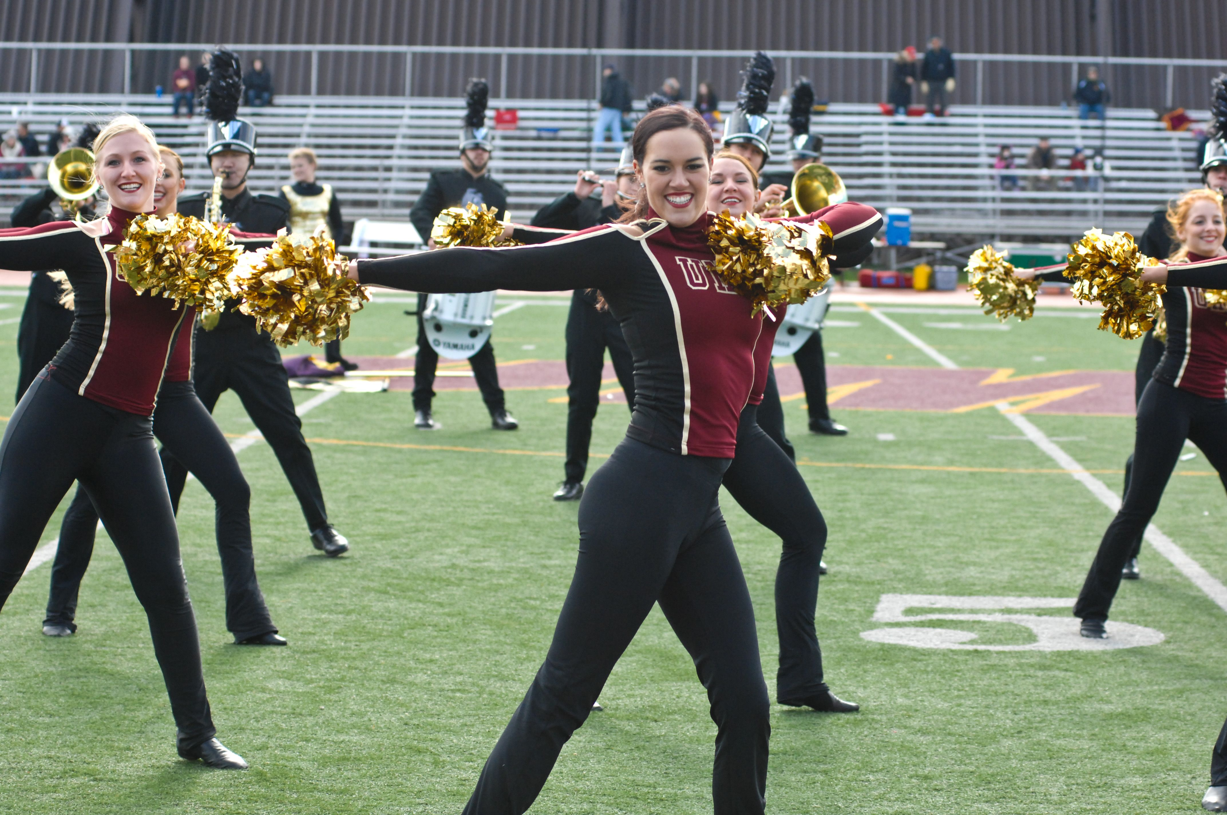Dance Team Performing their special routine with the UMD Marching Band - Fall 2013