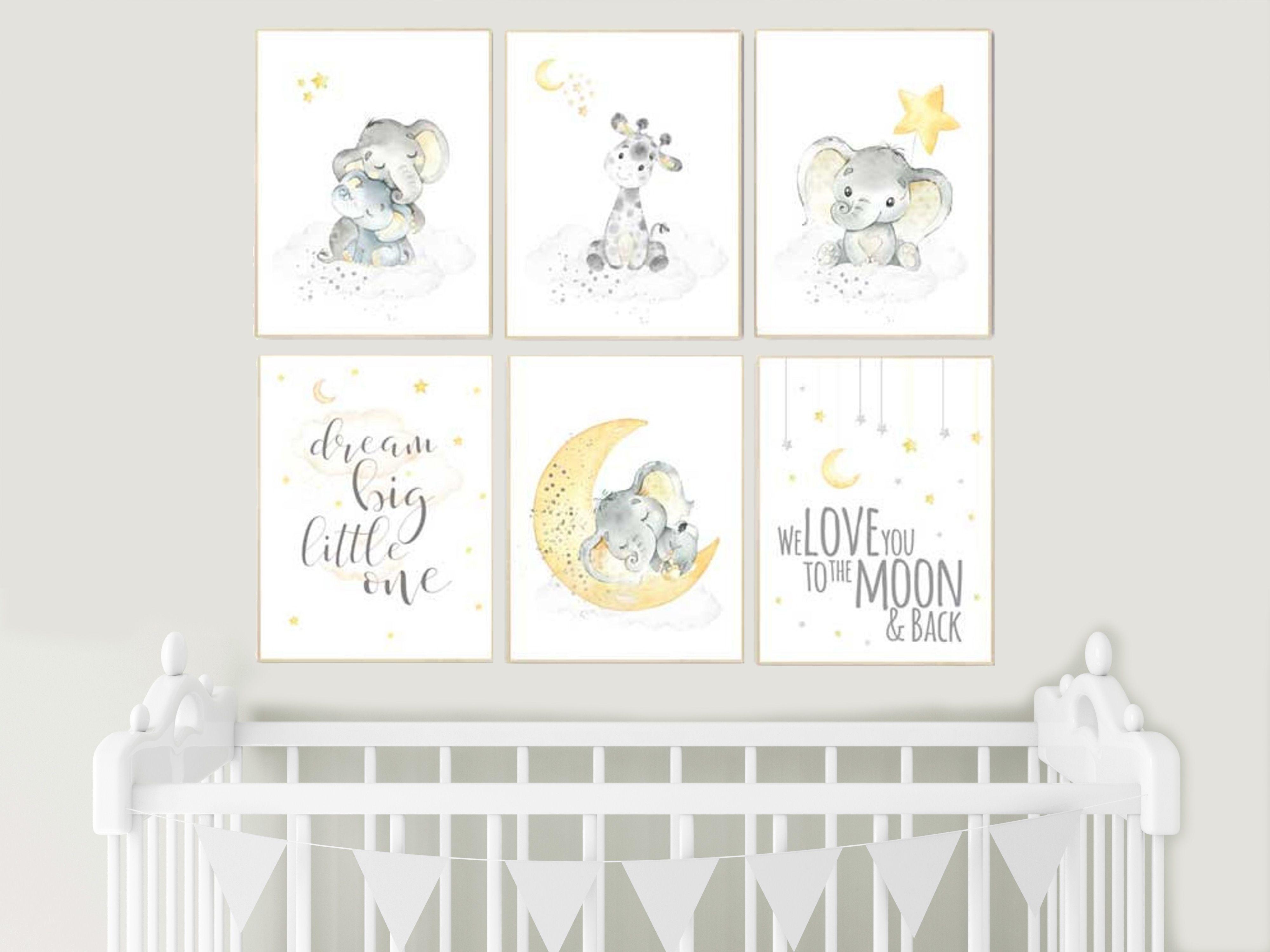 Yellow Gray Yellow Grey Gender Neutral Nursery Wall Art Etsy Gender Neutral Nursery Gray Gender Neutral Nursery Baby Room Wall Art