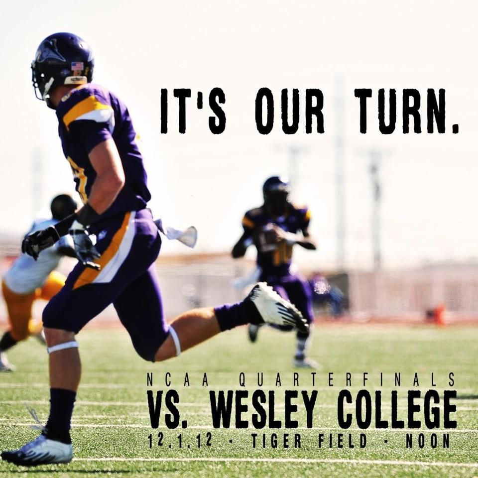 UMHB vs Wesley College, NCAA Quarterfinals 2012. Go CRU
