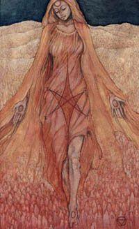 The Hierophant from the Mary-El Tarot