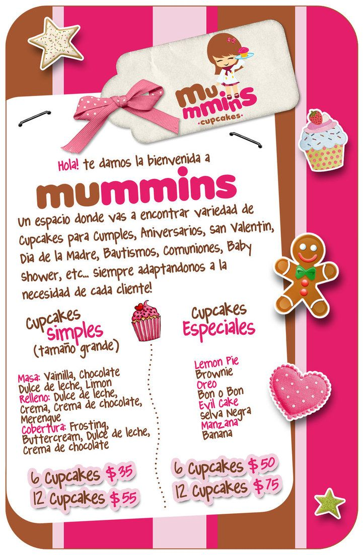 flyer mummins cupcakes by mypink cupcake flyers in 2018