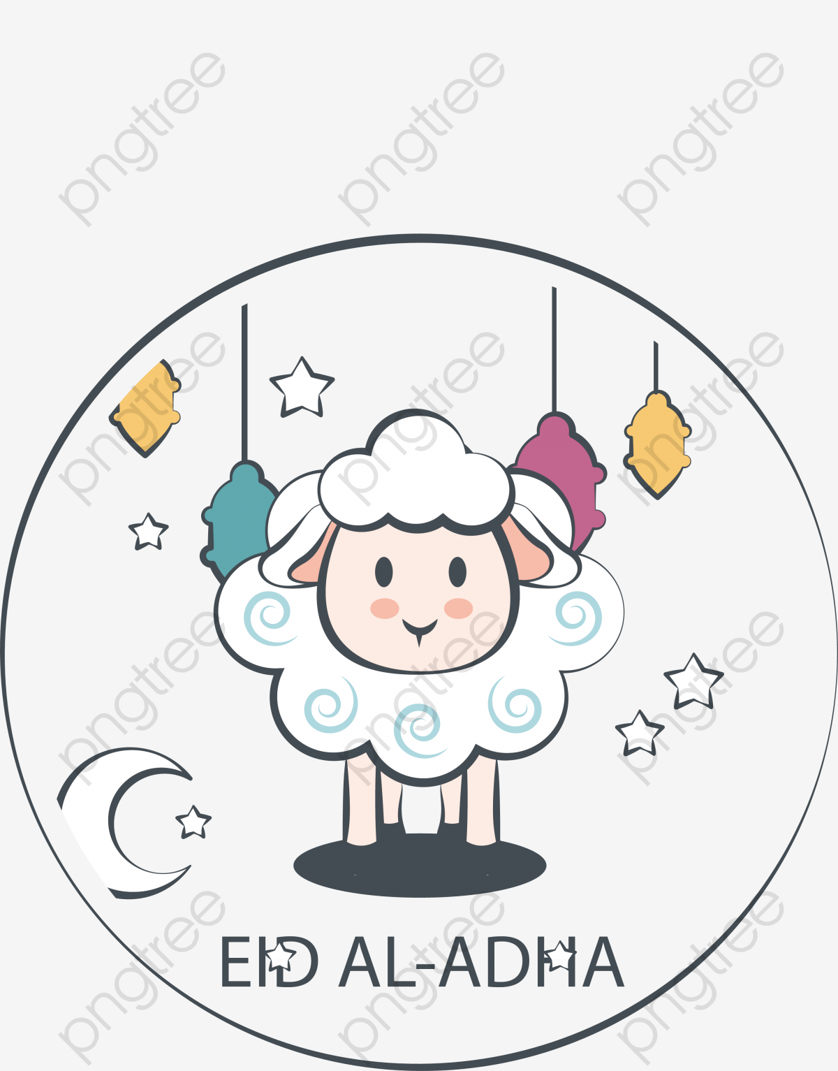 Download This Hand Painted Sheep Poster Eid Al Adha Vector Png Sheep Sheep Poster Transparent Png Or Vector File For Free Hand Painted Eid Abstract Face Art