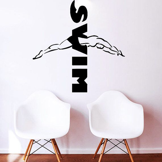 2024ig Vinyl Wall Decal Swimming Pool Logo Water Sports Stickers