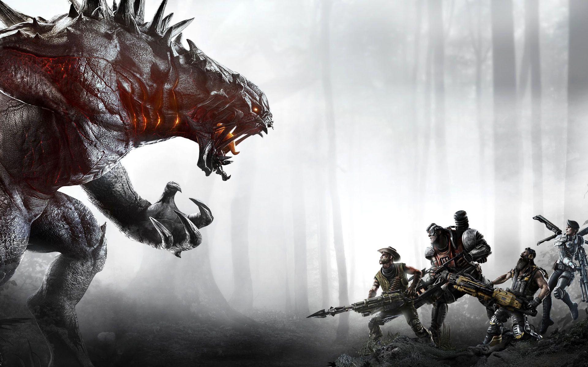 Evolve Hunter Vs Monster Game Wallpaper Evolve Monster Monster