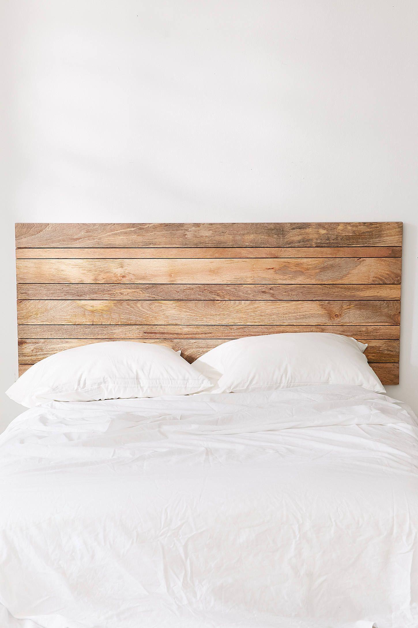 Slatted Wooden Headboard Wood Headboard Bedroom Wooden
