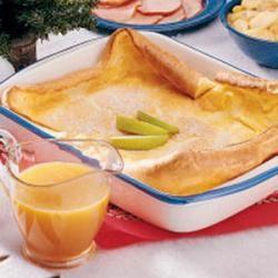 German Pancake With Buttermilk Sauce Recipe German Pancakes Recipe Pancake Recipe Taste German Pancakes