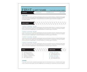 Blue Stripes Resume Template Get This Free Printable