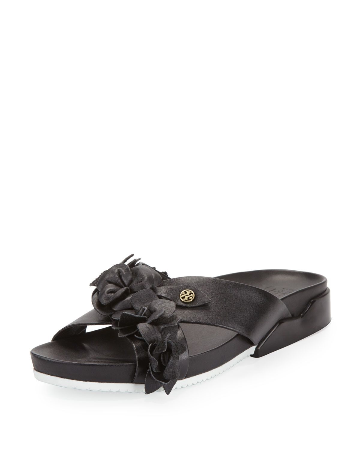 9ceee609907be Tory Burch Blossom Leather Slide Sandal