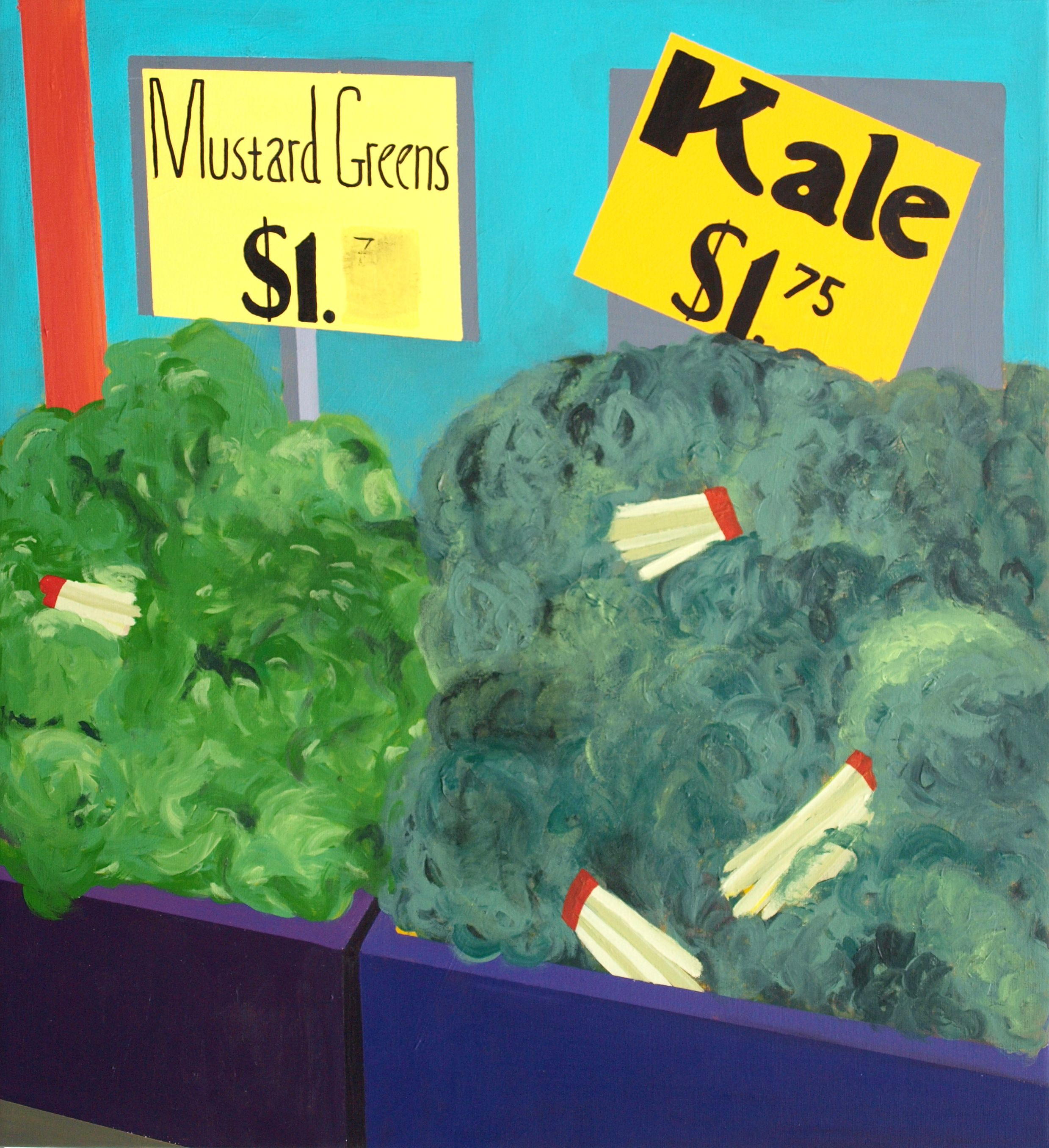 Jonna Pedersen Mustard Green and Kale @ Union Square Green Market 60 x 54 cm