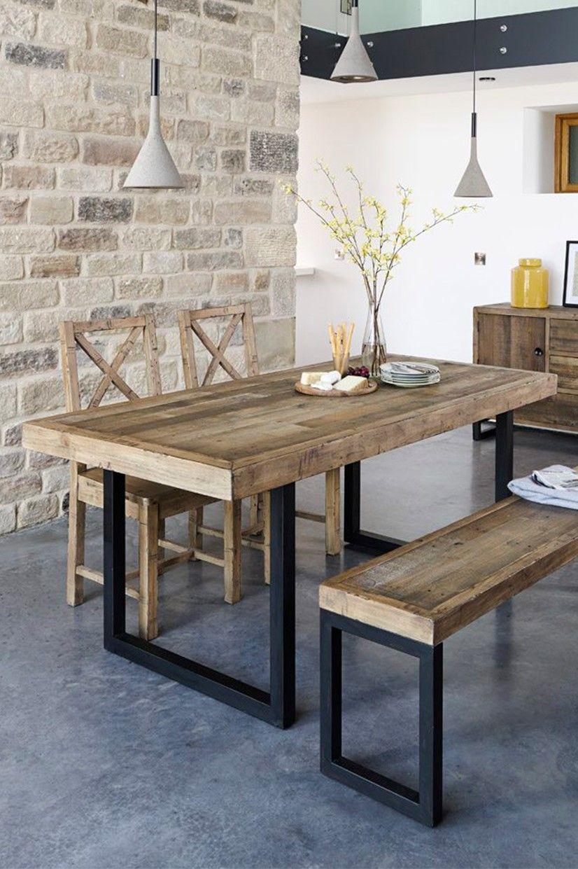 Table A Manger Extensible Bois Recycle 160 200 Cm Brisbane Table Salle A Manger Table De Salle A Manger Bois Salle A Manger Rustique