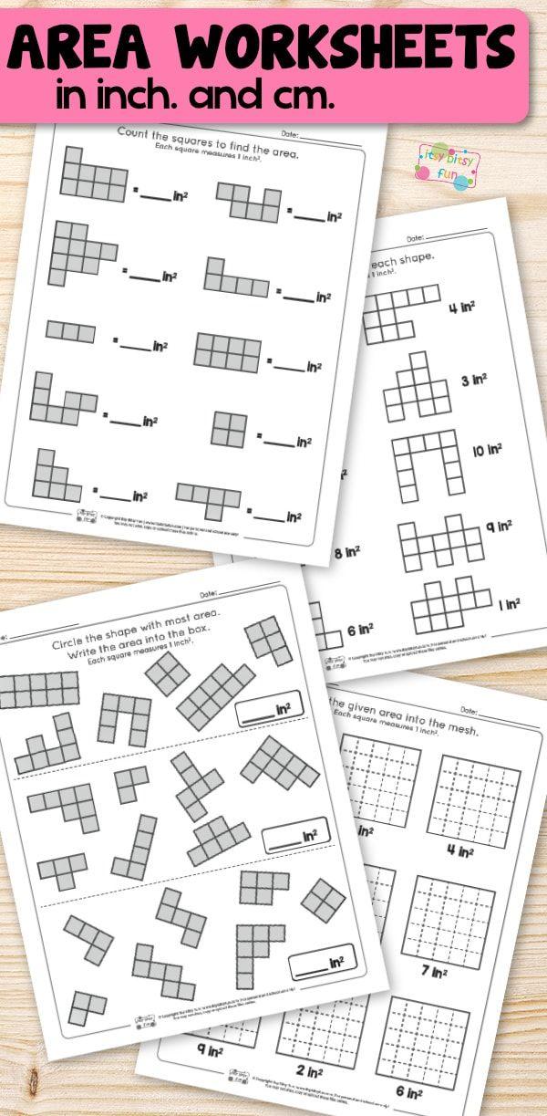 Area Worksheets - 2nd Grade Math Worksheets | Pinterest | Area ...