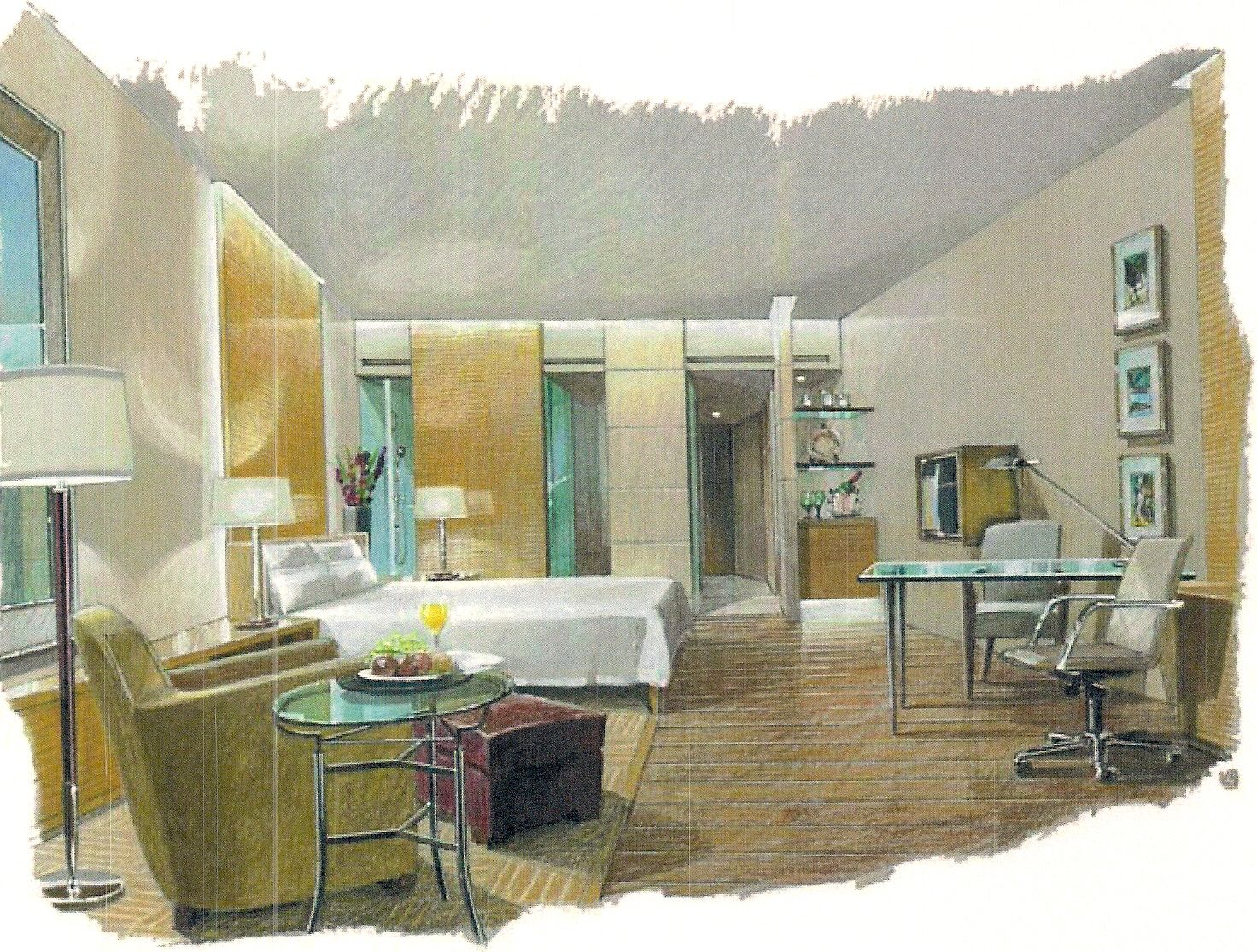 Interior Conceptual Sketch Interiordesign Bedroom