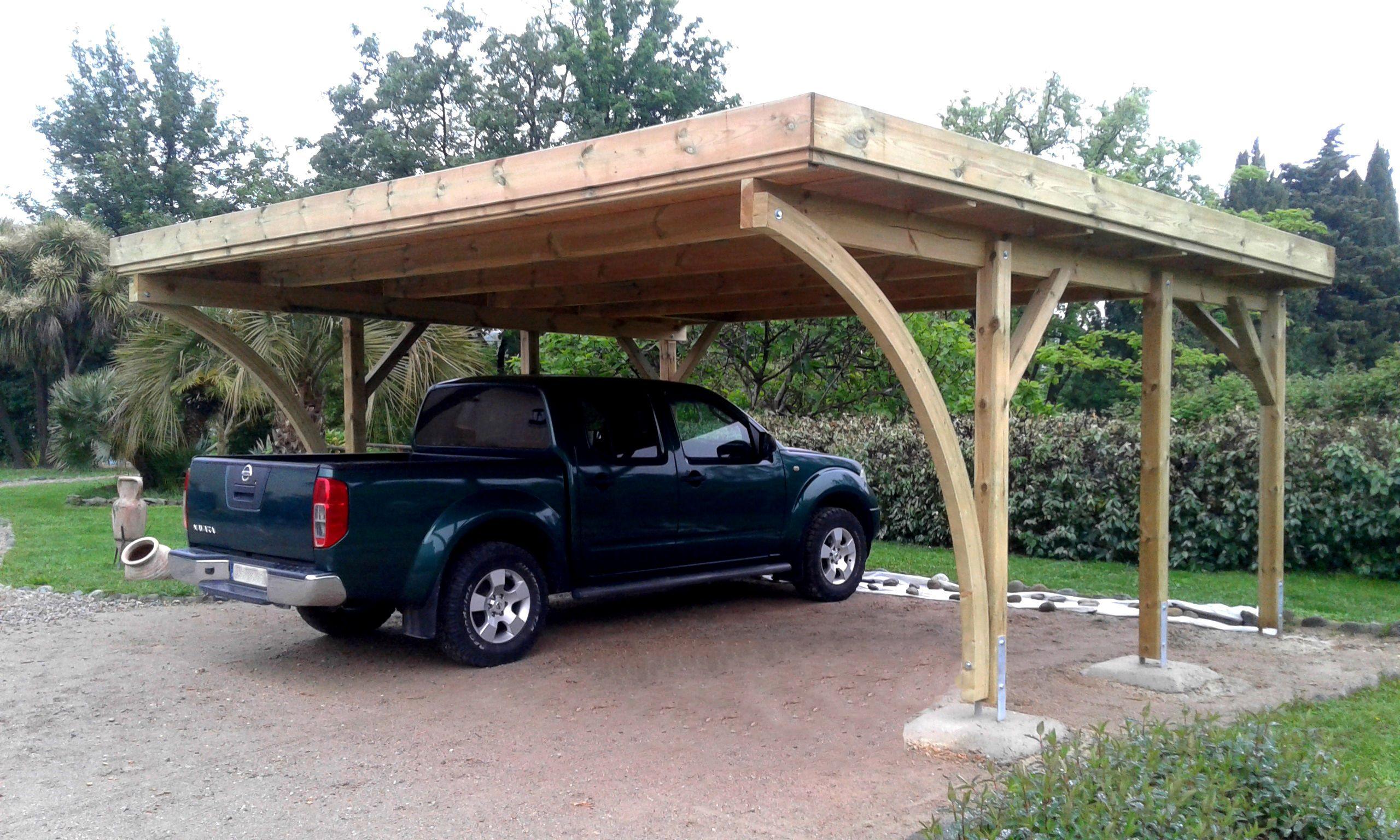 Carport 2 voitures PALERME 604 x 510 cm Dessins