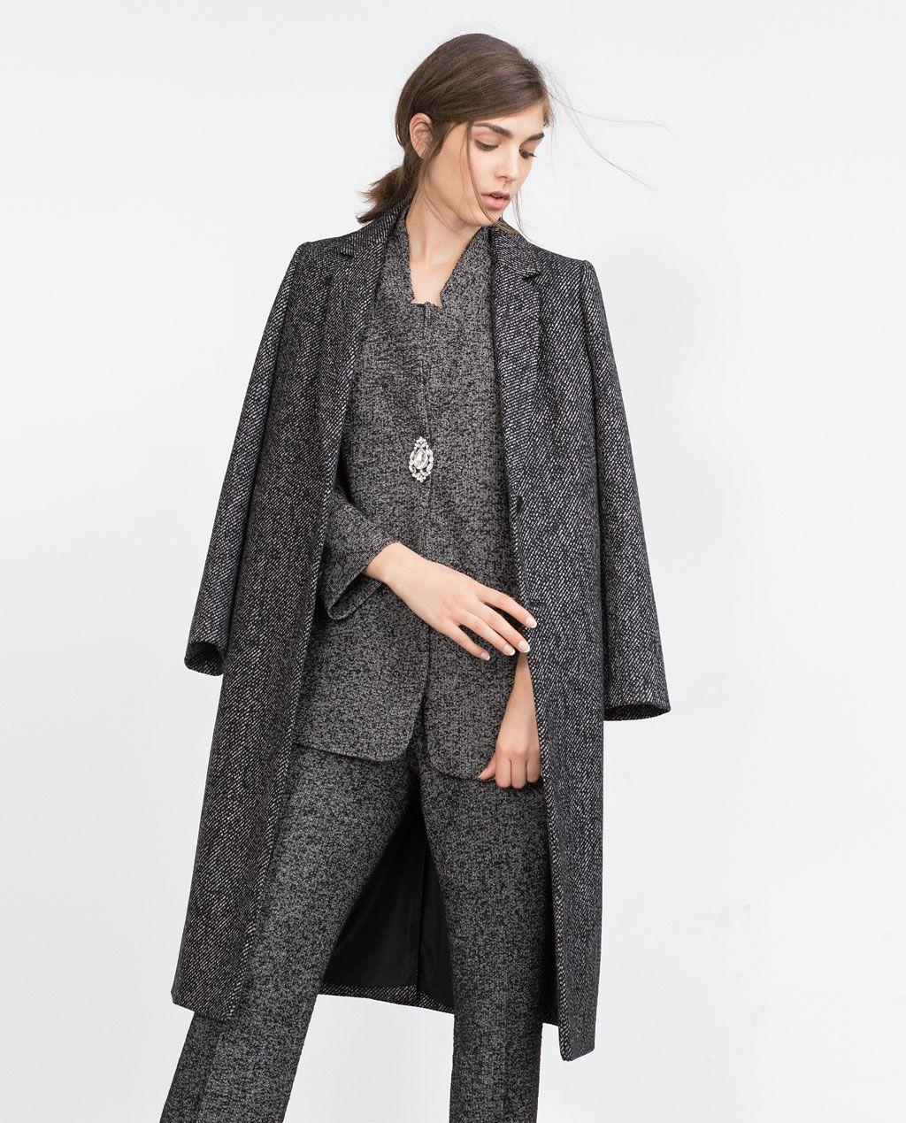 c5a64f79 HANDMADE LONG COAT-Coats-Outerwear-WOMAN | ZARA United States | I ...