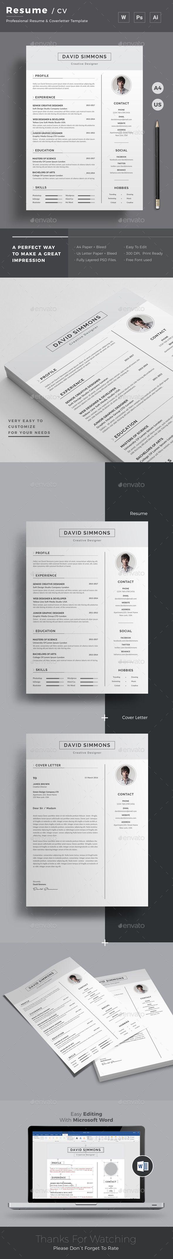 modern resume word